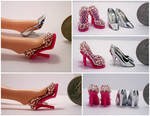 Dusty Rose Mini Beaded Shoes