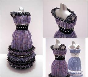 Dark Amethyst Bead Dress by pinkythepink