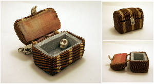 Mini Beady Treasure Chest by pinkythepink