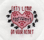 Cats Leave Footprints On Your Heart