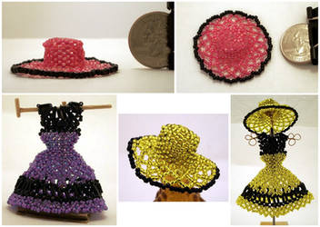 Open Weave Mini Bead Sun Hats