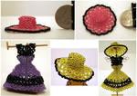 Open Weave Mini Bead Sun Hats