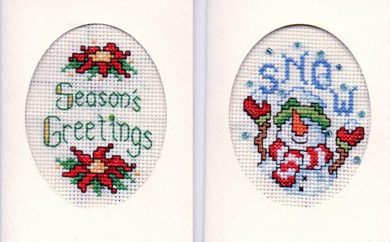 Xmas Cards - Seasons Greetings + Snow
