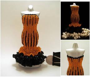 Halloween Mermaid Skirt Bead Dress by pinkythepink