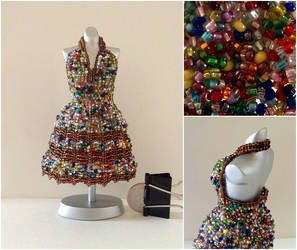 Halter Bead Dress - Bead Soup by pinkythepink