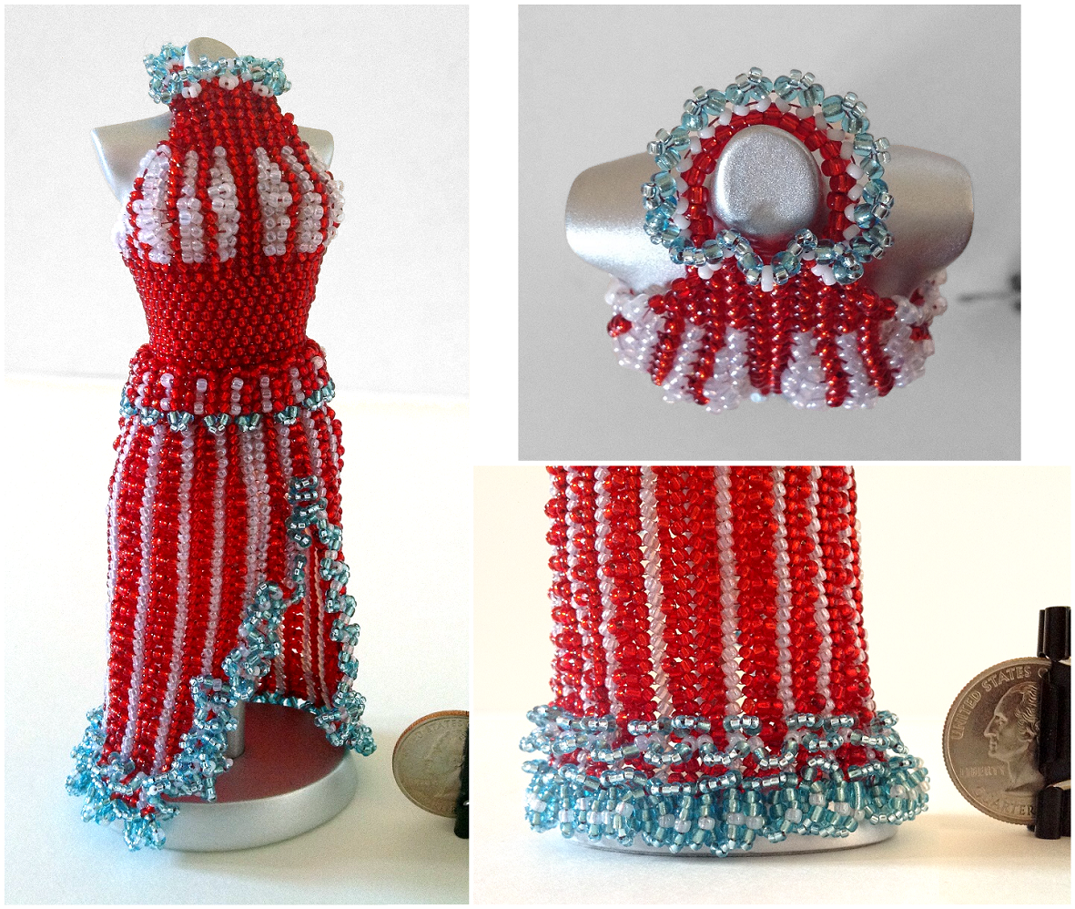 Miss USA, 4th of July - Split-Skirt Bead Dress by pinkythepink