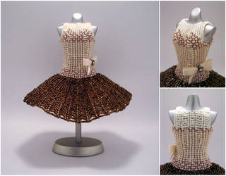 Coffee Ballerina Bead Dress by pinkythepink