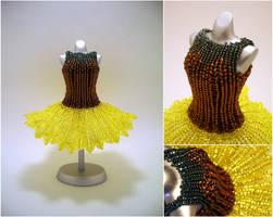Sunflower Ballerina BeadDress by pinkythepink