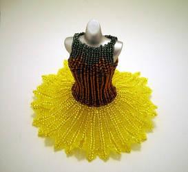 Sunflower Ballerina BeadDress WideSkirt