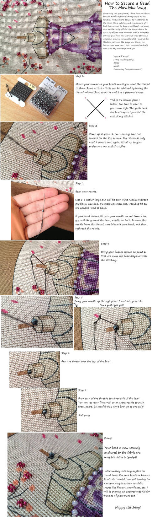 How to Embellish with Beads the Mirabilia Way by pinkythepink