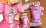 Princess Peach Bead Dress - Bodice Progress