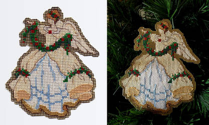Flowing Gown Christmas Angel Ornament