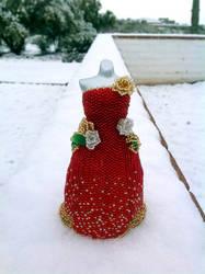 Merry Christmas BeadDress... in SNOW!