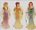 WIP-Nouveau Princess Patterns (Hannah-Alexander)1
