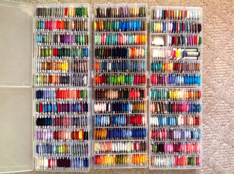 Colorful Boxes of Thread