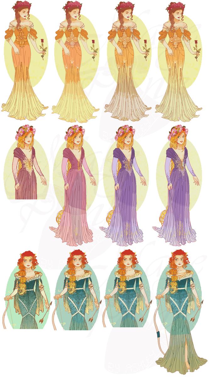 WIP3-Nouveau Princess Patterns (Hannah-Alexander)1 by pinkythepink