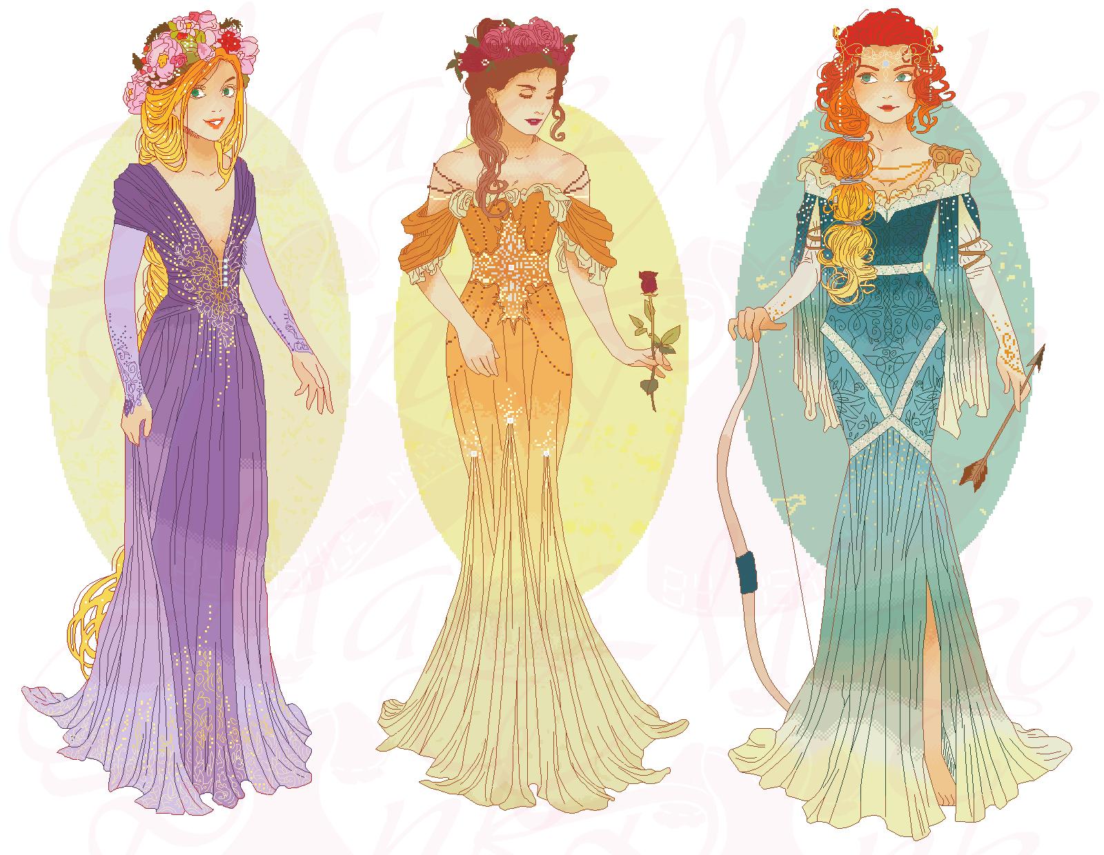 Disney Mucha Xstitch Patterns (Hannah-Alexander) by pinkythepink