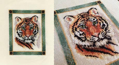 Jade-Framed Tiger