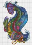Seru Koi Xstitch Pattern (Darkly-Shaded-Shadow) by pinkythepink