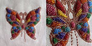 Stained Glass Butterfly by pinkythepink