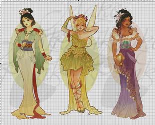 WIP-Nouveau Princess Patterns (Hannah-Alexander)2 by pinkythepink