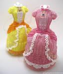 Princess Peach and Daisy Super Smash Bead Dresses