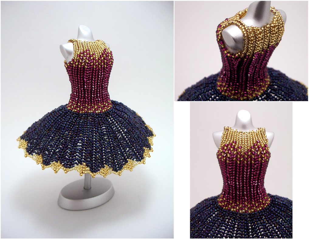 Golden Dusk Ballerina BeadDress by pinkythepink