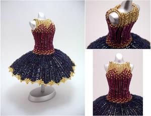 Golden Dusk Ballerina BeadDress