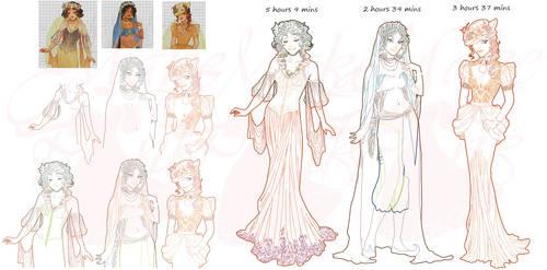 WIP2-Nouveau Princess Patterns (Hannah-Alexander)5 by pinkythepink