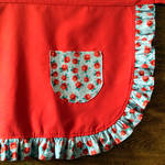 Red Rosey Apron