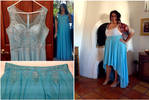 Dress to Skirt Conversion: Turquoise