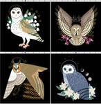 Owl Familiars Xstitch Patterns (Callupish) by pinkythepink