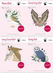 Owl Familiars Xstitch Patterns (Callupish)