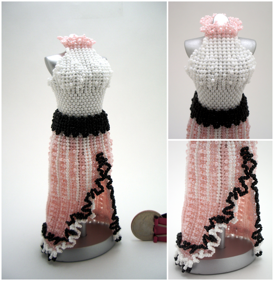 Sweet Split-Skirt Bead Dress by pinkythepink