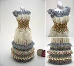 Floral Long Layered Bead Dress