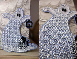 Beady Quilt Ghost by pinkythepink