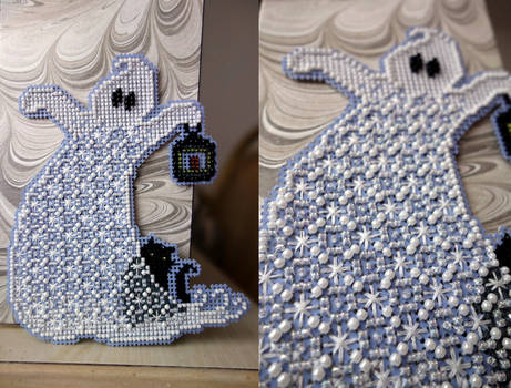 Beady Quilt Ghost