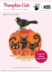 Pumpkin Doodle Cats Xstitch Pattern