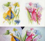 Iris and Tulip Flower Fae
