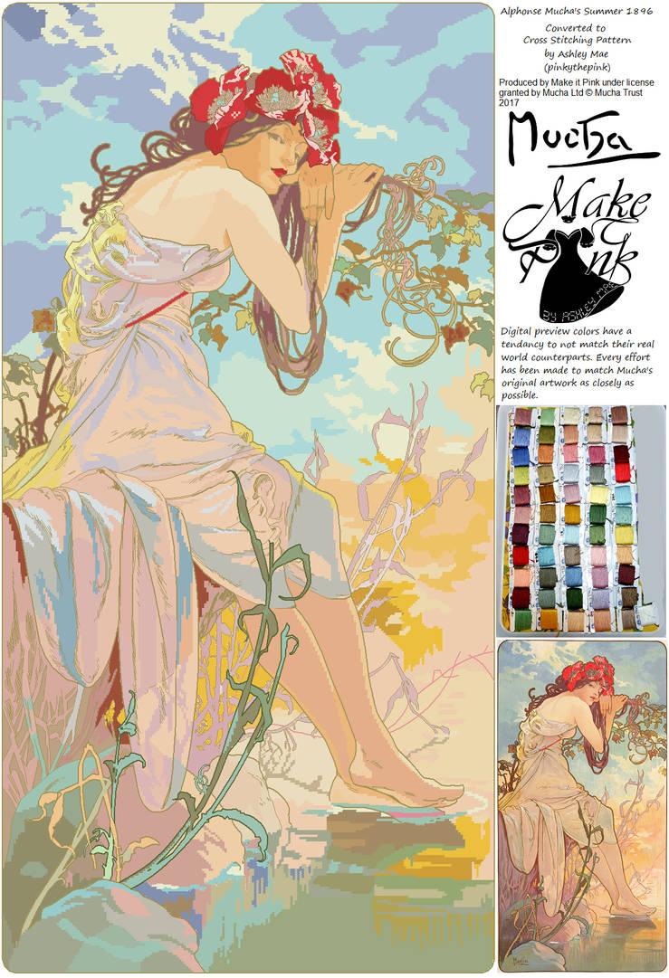 Summer 1896 (Alphonse Mucha) by pinkythepink