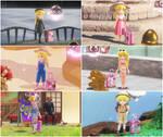 Princess Peach Odyssey Alternate Outfits by pinkythepink