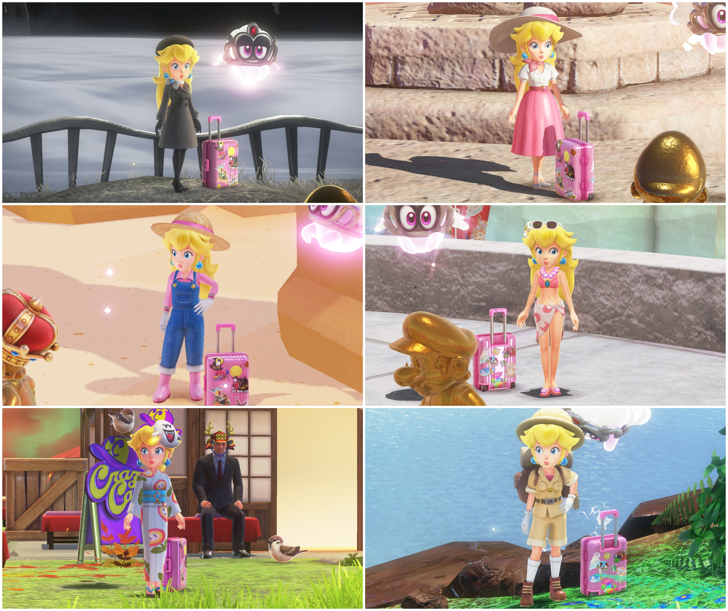 Princess Peach Odyssey Alternate Outfits By Pinkythepink On Deviantart
