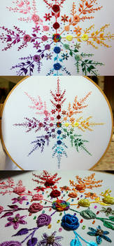 Floral Rainbow Snowflake