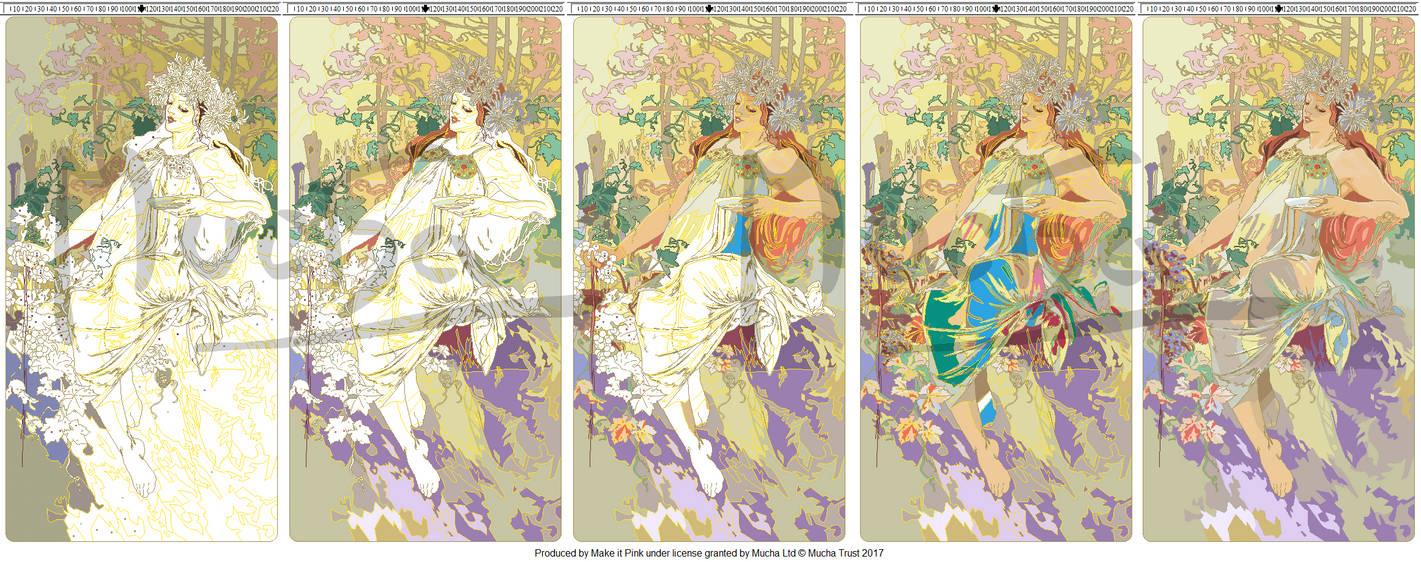 WIP 6 - Alphonse Mucha's Autumn 1896 Xstitch by pinkythepink