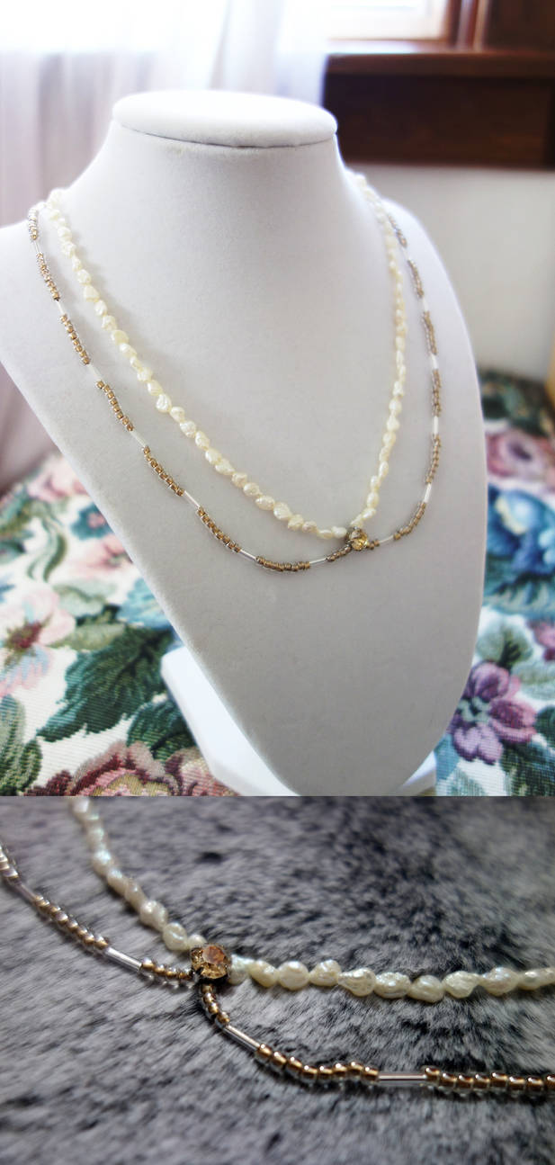 Dual Strand Wedding Necklace