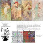 Simple Set (Alphonse Mucha 1896 Seasons) by pinkythepink
