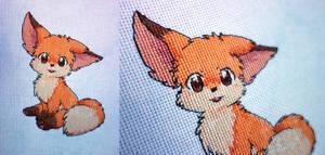 Cute Happy Fox