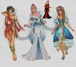 WIP-Nouveau Princess Patterns (Hannah-Alexander)8