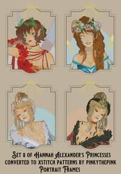 Set 8 Hannah Alexander Xstitch Portrait Frames