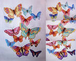 Rainbow Butterfly Extravaganza by pinkythepink